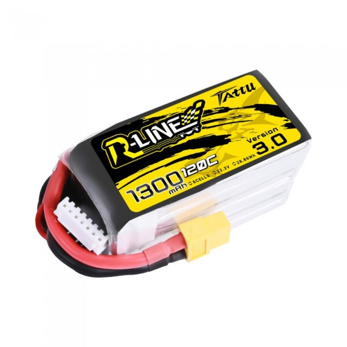 Tattu R-Line Version 3.0 1300mAh 6s 120C Lipo Battery